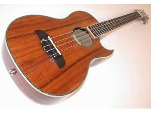 Oscar Schmidt Acoustic/Electric Baritone Ukulele, All Koa, Grover Tuners, OU55CE