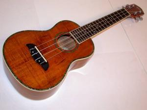 Oscar Schmidt Wide Neck Tenor Ukulele, Select Hawaiian Koa, Gloss Finish, OU6W
