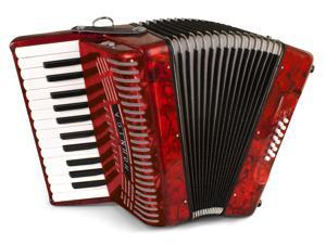 Hohner Hohnica Piano Accordion 1303, RED, 26 Keys 12 Bass, Case & Straps, NEW