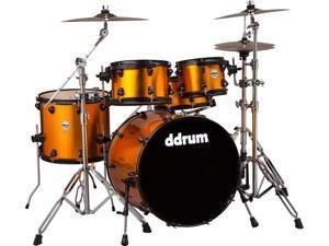 Journeyman Player 5 Piece Drum Kit with Hardware, Blaze Orange, JMP522 BO