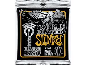 Ernie Ball 3122 Coated Hybrid Slinky Strings,1 Set,9-46