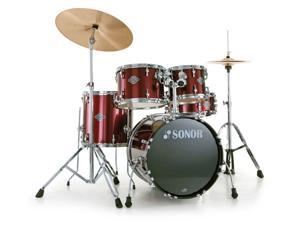 Sonor STAGE 1, 5 Piece Drum Set, SMART FORCE, Wine Red Includes Hardware & Pedal