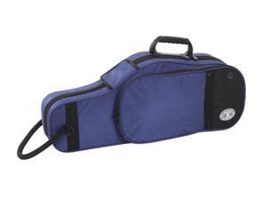 Kaces Polyfoam Alto Saxophone Case, 600D Nylon, Lightweight, Blue, KBFB-AS2