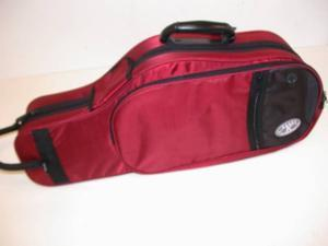 Kaces Polyfoam Alto Saxophone Case, Lightweight 600D Nylon Covers, Red, KBFR-AS4