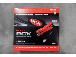 NOCO BCX216 16' 2-Gauge Professional Grade Automotive Battery Booster Jumper Cable