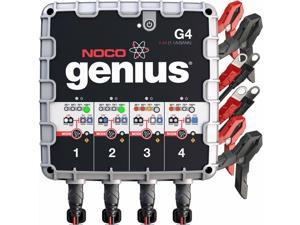 NOCO Genius 2.0 G4 6V/12V 4.4A 4-Bank UltraSafe Smart Battery Charger