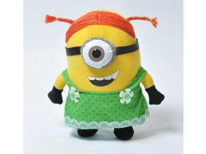 "Despicable Me Dress maidservant 3D Minion Plush Soft Toy Stuffed Doll Figure 10"" Free Shipping"