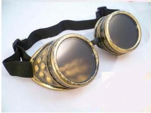 Brass CYBER GOGGLES STEAMPUNK WELDING GOTH COSPLAY VINTAGE GOGGLES Gift