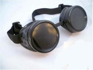 GOGGLES STEAMPUNK WELDING GOTH COSPLAY VINTAGE GOGGLES Black