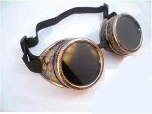 Halloween Copper CYBER GOGGLES STEAMPUNK WELDING GOTH LOL Ezreal COSPLAY