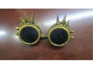 GOGGLES STEAMPUNK WELDING GOTH VINTAGE GOGGLES RUSTIC COSTUME COSPLAY SPIKE