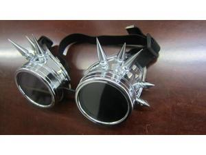 Cyber Goggles Antique Goth Welding Steampunk Vintage Cosplay Victorian Free P&P