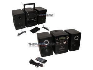 Supersonic SC-807 Portable Audio System with MP3/CD Player/Bluetooth/USB/SD/AUX Inputs/Cassette Recorder & AM/FM Radio
