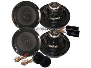 "Alpine SPR-60C & SPR-60 Type R 2-Way 1260 Watt 6-1/2"" Component + Coaxial Car Speaker (2 pairs)"