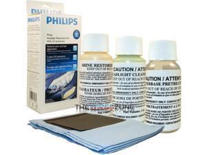 Philips HRK00XM Professional Headlight Restoration Kit with UV Protecting Polish