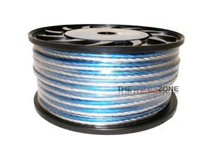 Bullz Audio BPS12.200PB Blue & Silver 200 Feet 12 Gauge Speaker Wire for Home/Car Audio
