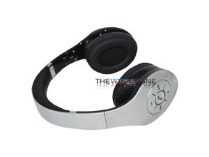 Supersonic IQ-125BT Silver Wireless Bluetooth Headphone for Cell Phone Tablet PC