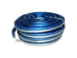 Bullz Audio BPS10.50PB Blue & Silver 10 Gauge 50 Feet Speaker Wire for Home/Car