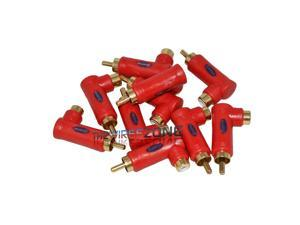 Xscorpion RAL-R Red Long RCA Male to Female 90 Degrees Elbow Adapter (10/pack)