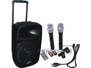 "Absolute USPROBAT12 Portable 12"" 2000W Amplified PA Speaker w/ Bluetooth & Mic"