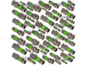 BNC Compression Type 75 Ohm Coaxial Coax RG59 CCTV Connector (50/pack)