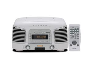 TEAC SL-D930 2.1-Channel Premium Bluetooth Speaker System With CD/Radio (White)