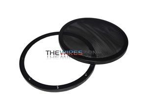 """Xscorpion D-8MG 8"""" Mesh Car Speaker/Subwoofer Grill Grille with Double Rings"""