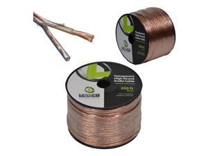 14 Gauge AWG 2 Conductor Stranded 250' Feet Transparent Speaker Wire Audio Cable
