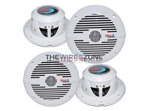 "Boss Audio MR60W 6.5"" 2-Way 200W Marine Boat Coaxial Stereo Speaker (2 pairs)"