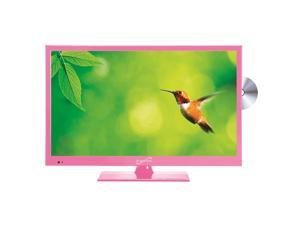 """Supersonic SC-1512PK Pink 15.6"""" LED Widescreen HDTV Television with DVD Player"""