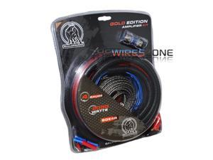 Bullz Audio BGE4RB Gold Edition 4 Gauge 2000 Watts Amplifier Wiring Amp Kit