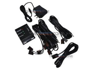 Hidden Dual Band IR Infrared Remote Control Repeater Extender 4 Emitters AV Kit