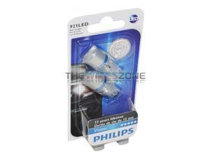 Philips 921 LED 6000K Bright White 3W Back Up Reverse Tail Light Bulb (2 Pack)