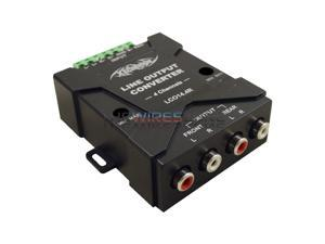 4-Channel Hi to Low Level Line Output Converter with Auto Remote Amp Turn-On