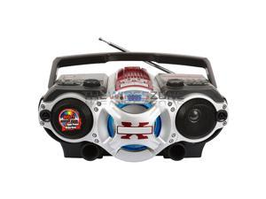 Supersonic SC-1495BT Red Portable Bluetooth MP3 Player AM/FM Radio Boombox USB/AUX