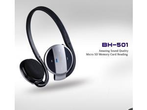 BH-501 Bluetooth Headphone Headset Portable USB Bluetooth Stereo Headset Built-in Microphone with Answer Calling Support ...