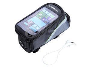 "Geek Buying Outdoor 5.5"" Bike Bicycle Cycling Frame Tube Panniers Waterproof Touchscreen Phone Case Reflective Bag"