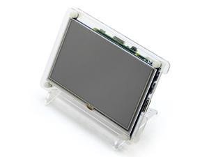 5' Screen Transparent Shell Type B For Raspberry Pi 5' Resistive Screen 5inch HDMI LCD