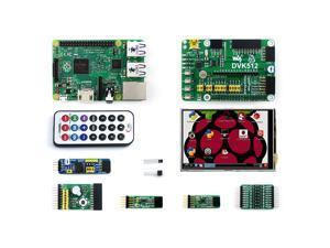 Raspberry Pi 2 Model B (Package A) Accessory Kits BCM2836 LCD DVK512 PCF8591 L3G4200D LSM303DLHC Mix Board