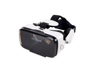 Virtoba X5 VR Box 120° FOV 3D VR Virtual Reality 3D Movie Video Game Glass with headphone for 4-6 Inch Smartphone
