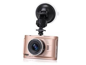 Q7 3 Inch 1080P Full HD LCD 140 Degree Wide Angle Night Vision G-sensor Car DVR Vehicle Camera Video Recorder - Gold
