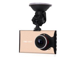 A9 3.0Inch 140 Degree Wide Angle 1626 Chipset Car Vehicle DVR Camcorder With Night Vision G-Sensor Motion Detection-Gold