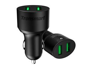 Tronsmart Quick Charge 3.0 36W 2 Ports Type A USB Car Charger for Quick Charge 3.0 and 2.0 Compatible Device