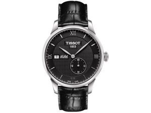Tissot T-Classic Le Locle Black Dial Black Leather  Watch T0064281605800