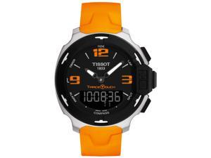 Tissot T-Race Analog Digital Orange Rubber Mens Watch T0814201705702