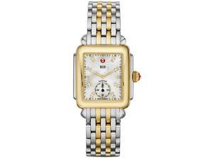 Michele Deco Mother of Pearl Dial Two-tone Ladies Watch MWW06V000042