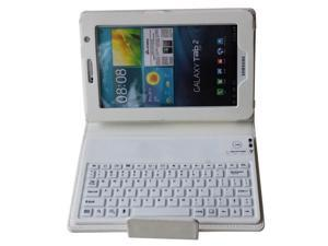 2-in-1: Wireless Bluetooth 3.0 silicone Keyboard + Stylish Folding PU Leather Protective Case for Samsung Galaxy Tab 3 7.0 P3200 P3210 T210 T211