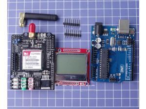 Arduino SIM900 GSM GPRS Shield Wireless Control Module Nokia LCD Uno R3 USB