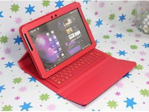 """Bluetooth Keyboard Leather Case For Samsung Galaxy Tab 2 10.1"""" P5110 P5100 P7510 Red"""