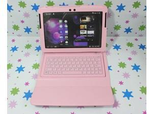 """Bluetooth Keyboard Leather Case For Samsung Galaxy Tab 2 10.1"""" P5110 P5100 P7510 Pink"""
